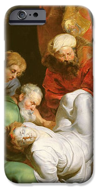 Disciples Paintings iPhone Cases - The Entombment of St Stephen iPhone Case by Peter Paul Rubens