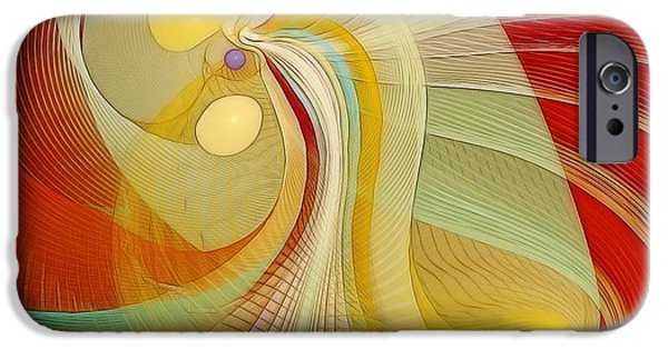Abstract Digital Pastels iPhone Cases - The Essence of Time iPhone Case by Gayle Odsather