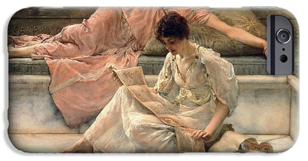 Cushion iPhone Cases - The Favourite Poet iPhone Case by Sir Lawrence Alma-Tadema