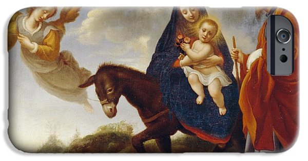 Guardian iPhone Cases - The Flight into Egypt iPhone Case by Carlo Dolci