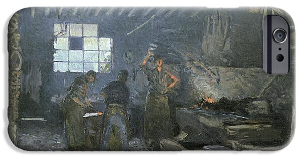 Ironwork iPhone 6 Case - The Forge by Alfred Sisley