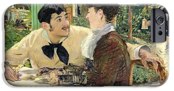 1879 iPhone Cases - The Garden of Pere Lathuille iPhone Case by Edouard Manet