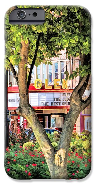 IPhone 6 Case featuring the painting The Glen Movie Theater by Christopher Arndt