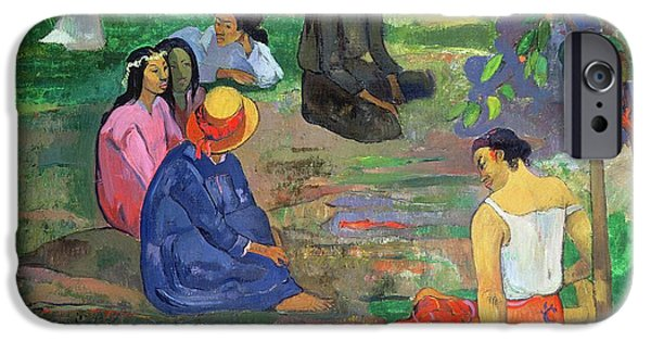 Friends Meeting iPhone Cases - The Gossipers iPhone Case by Paul Gauguin