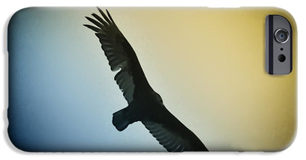 Red Tail Hawk Digital Art iPhone Cases - The Hawk iPhone Case by Bill Cannon