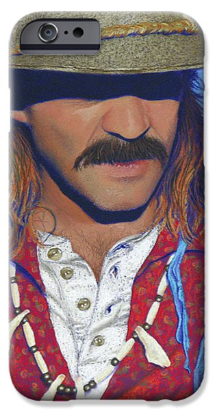 Santa Pastels iPhone Cases - The Historian - Jeff Trotman iPhone Case by Tracy L Teeter