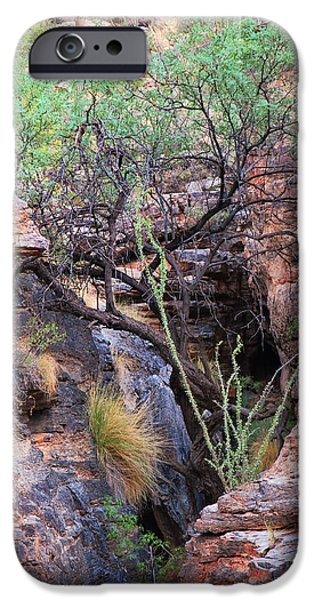 Mounds iPhone Cases - The Hole - Mount Lemmon iPhone Case by Donna Van Vlack