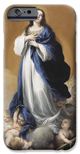 The Heavens iPhone Cases - The Immaculate Conception  iPhone Case by Bartolome Esteban Murillo