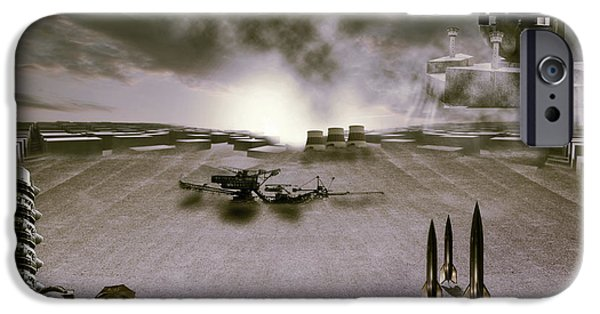 Abstract Digital Photographs iPhone Cases - The industrial revolution iPhone Case by Nathan Wright