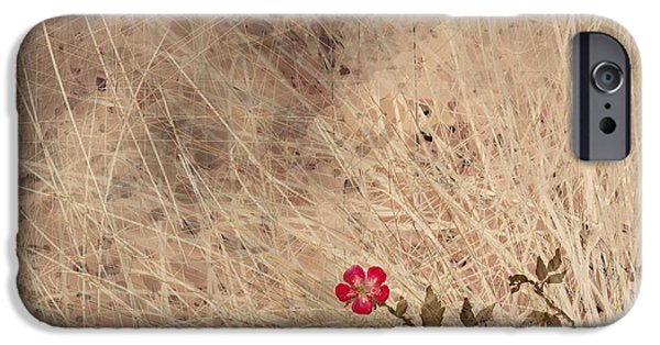 Abstract Landscape Digital Art iPhone Cases - The Last Blossom iPhone Case by Rachel Christine Nowicki
