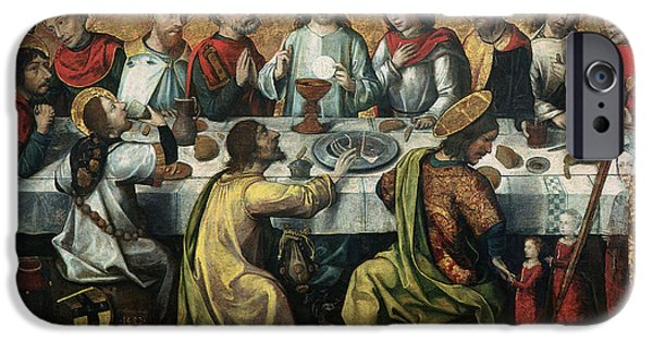 The Followers Paintings iPhone Cases - The Last Supper iPhone Case by Godefroy