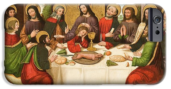 The Followers Paintings iPhone Cases - The Last Supper iPhone Case by Master of Portillo