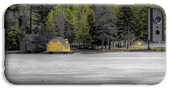 IPhone 6 Case featuring the photograph The Lighthouse On Frozen Pond by David Patterson