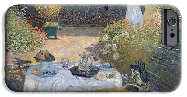 Outside iPhone Cases - The Luncheon iPhone Case by Claude Monet