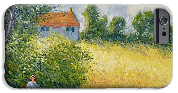 Pathway iPhone Cases - The Meadow Path  iPhone Case by Richard Kretchmer