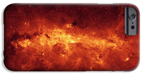 Stellar iPhone Cases - The Milky Way Center Aglow With Dust iPhone Case by Stocktrek Images