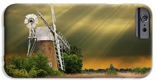 Spectacular iPhone Cases - The Mill On The Marsh iPhone Case by Meirion Matthias