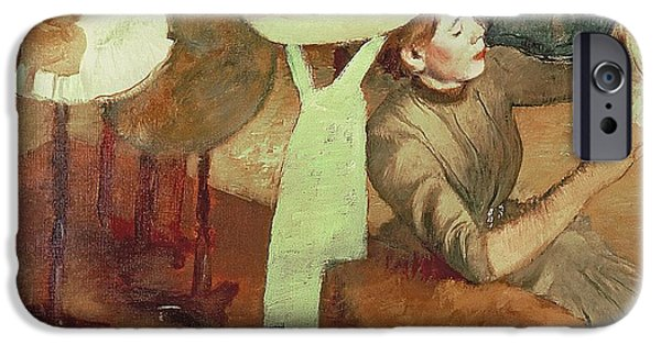 1879 iPhone Cases - The Millinery Shop iPhone Case by Edgar Degas