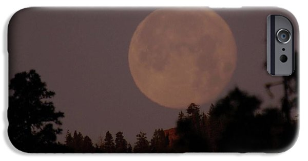Oak Creek iPhone Cases - The Moon Over Oak Creek  iPhone Case by Jeff  Swan