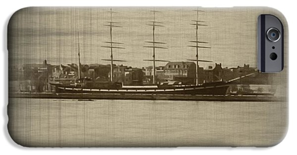 Tall Ship iPhone Cases - The Mushulu from the Camden Water Front iPhone Case by Bill Cannon