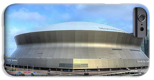 IPhone 6 Case featuring the photograph The New Orleans Superdome by JC Findley