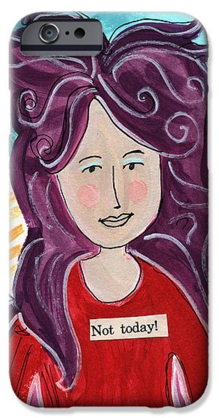Fairy iPhone 6 Case - The Not Today Fairy- Art By Linda Woods by Linda Woods