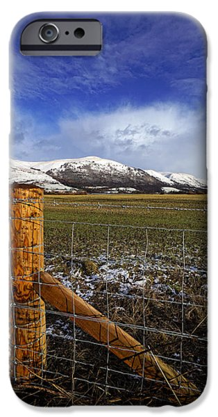 IPhone 6 Case featuring the photograph The Ochils In Winter by Jeremy Lavender Photography