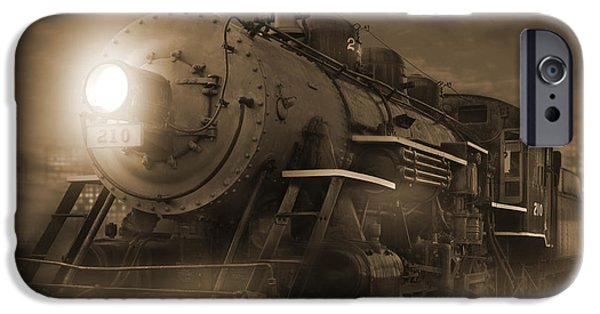 Rail Digital Art iPhone Cases - The Old 210 iPhone Case by Mike McGlothlen