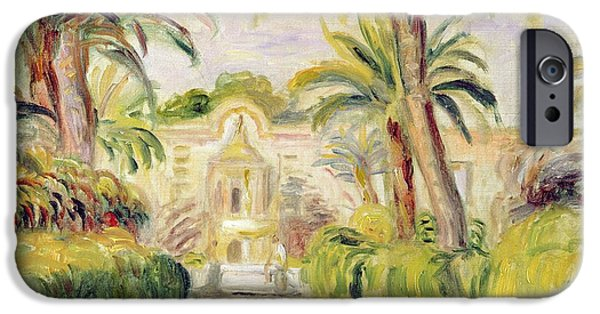 Mansion iPhone Cases - The Palm Trees iPhone Case by Pierre Auguste Renoir