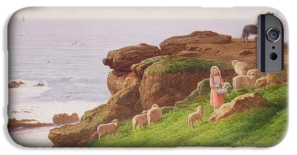 Young iPhone Cases - The Pet Lamb iPhone Case by J Hardwicke Lewis