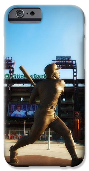 Philadelphia Phillies Stadium Digital iPhone Cases - The Phillies - Mike Schmidt iPhone Case by Bill Cannon