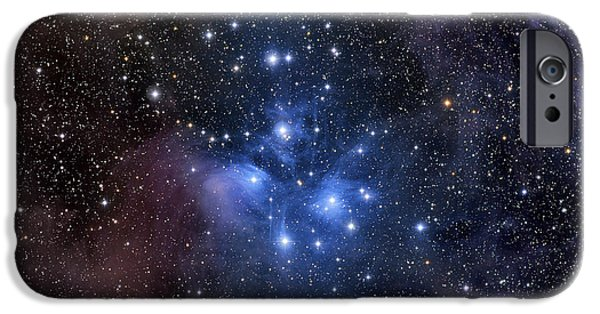 Color Image iPhone Cases - The Pleiades, Also Known As The Seven iPhone Case by Roth Ritter