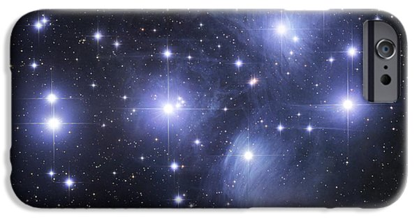 Color Image iPhone Cases - The Pleiades iPhone Case by Robert Gendler