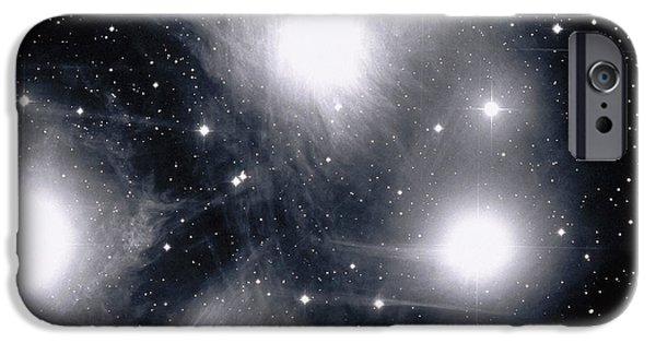 Stellar iPhone Cases - The Pleiades Star Cluster, Also Known iPhone Case by Stocktrek Images