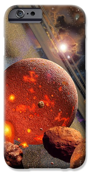 Destiny iPhone Cases - The Primordial Earth Being Formed iPhone Case by Ron Miller
