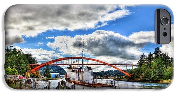 The Rainbow Bridge - Laconner Washington IPhone 6 Case by David Patterson