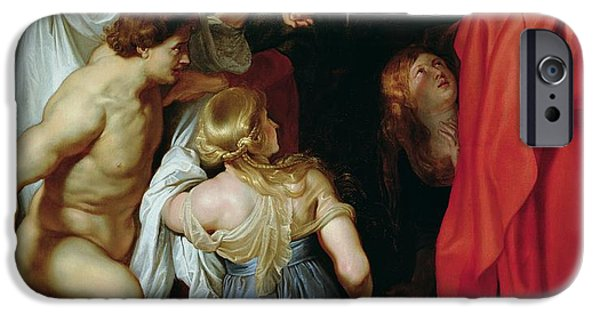 Miracle iPhone Cases - The Resurrection of Lazarus iPhone Case by Rubens