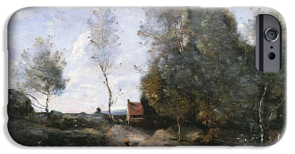1796 iPhone Cases - The Road iPhone Case by Jean Baptiste Camille Corot