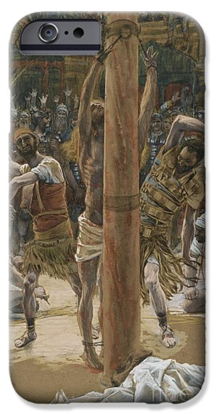 Humiliation iPhone Cases - The Scourging on the Back iPhone Case by Tissot
