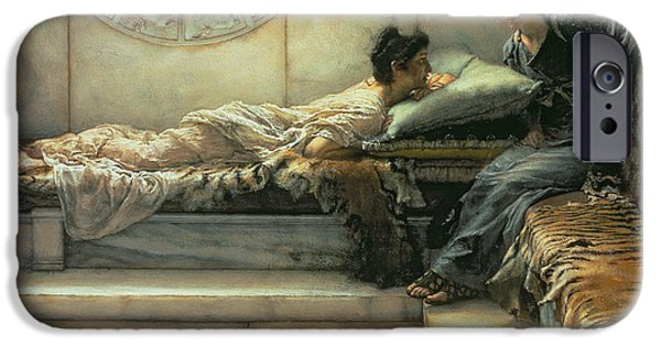 The Tiger Paintings iPhone Cases - The Secret iPhone Case by Sir Lawrence Alma-Tadema