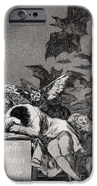 Bat iPhone 6 Case - The Sleep Of Reason Produces Monsters by Goya