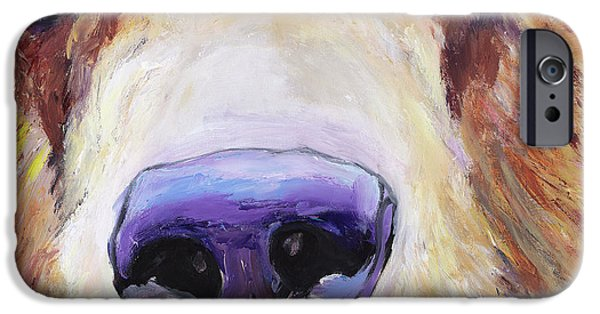 Animal Cards iPhone Cases - The Sniffer iPhone Case by Pat Saunders-White