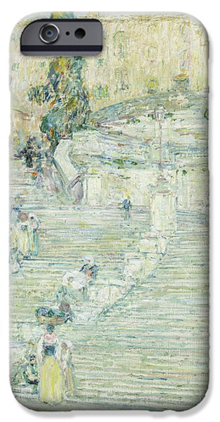 Spanish Steps IPhone 6 Case   The Spanish Stairs, Rome, 1897 By Childe  Hassam