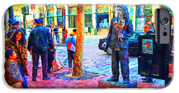 Jugglers iPhone Cases - The Street Performer . Photo Artwork iPhone Case by Wingsdomain Art and Photography