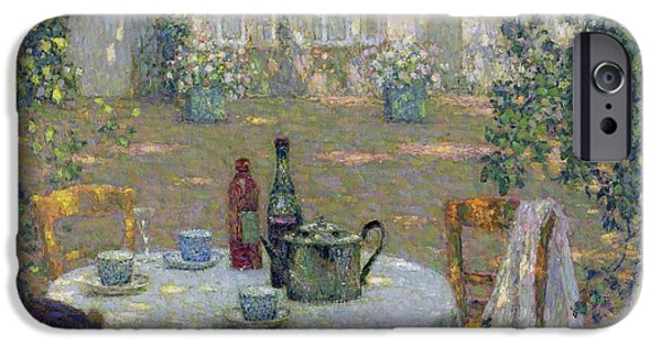 Best Sellers -  - Table Wine iPhone Cases - The Table in the Sun in the Garden iPhone Case by Henri Le Sidaner