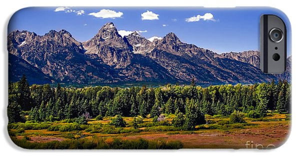 Haybale iPhone Cases - The Tetons II iPhone Case by Robert Bales