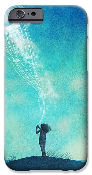 Blue iPhone 6 Case - The Thing About Jellyfish by Eric Fan