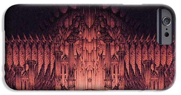 Jrr iPhone Cases - The Walls of Barad Dur iPhone Case by Curtiss Shaffer