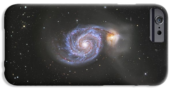 Constellations iPhone Cases - The Whirlpool Galaxy iPhone Case by Robert Gendler