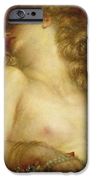 Zeus iPhone Cases - The Wife of Plutus iPhone Case by George Frederic Watts